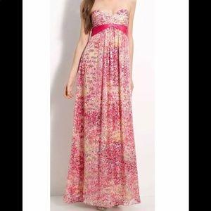 BCBGMaxAzria Kai Strapless Gown